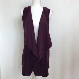 Calvin Klein Drapey faux suede vest